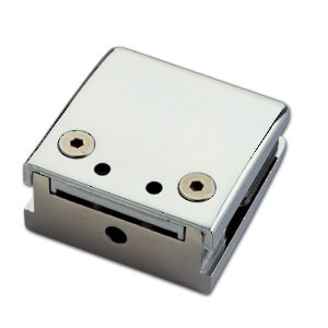 Adjustable Tapered Square Glass Clamp for Flat Mounting - Made of Zinc
