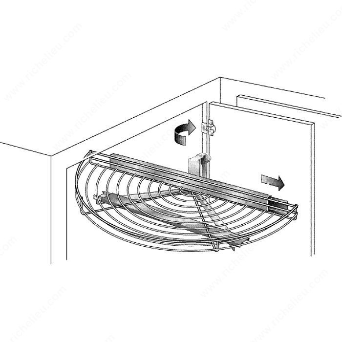 Wire Half Moon Pivoting And Sliding Tray Richelieu Hardware