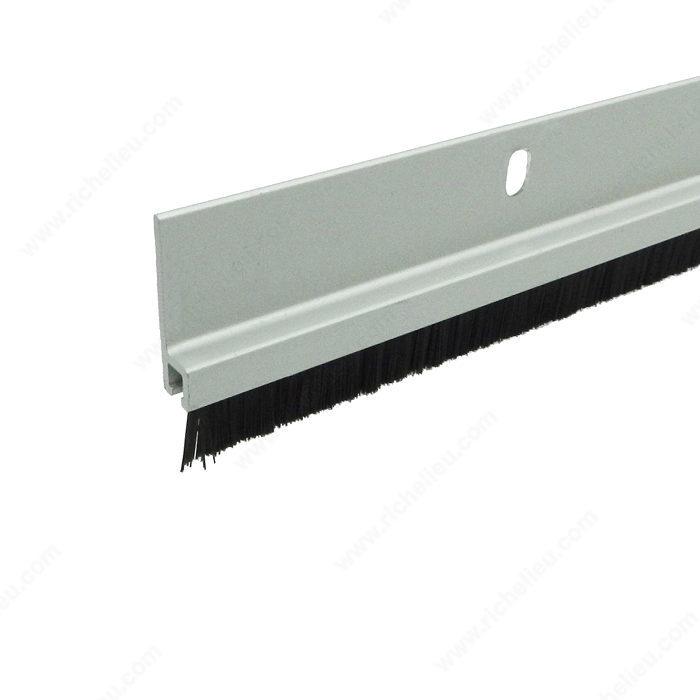 Aluminum door sweep with nylon brush richelieu hardware - Commercial door sweeps for exterior doors ...