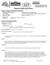 Canadian Material Safety Data Sheets