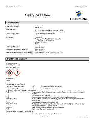 Canadian Safety Datasheet