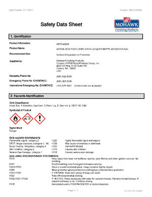 US & Canadian Safety Data Sheets