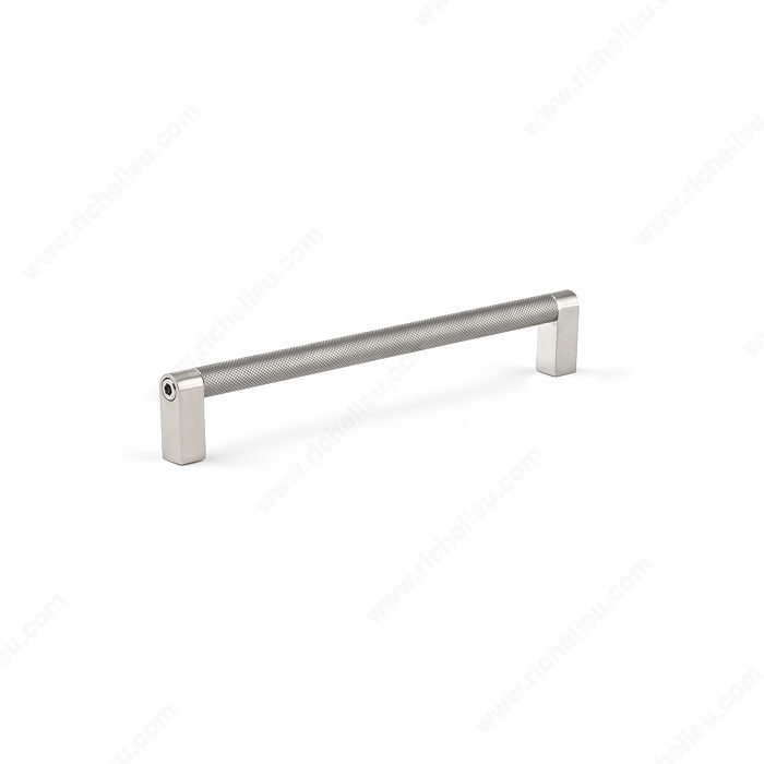 Brushed Nickel / Bright Satin Nickel / Knurled Stainless Steel