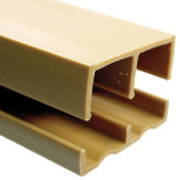 "Plastic Track for 3/4"" Wood Sliding Doors"