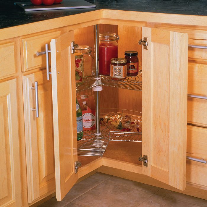 lazy susan for kitchen cabinet kidney shaped model richelieu hardware 22548