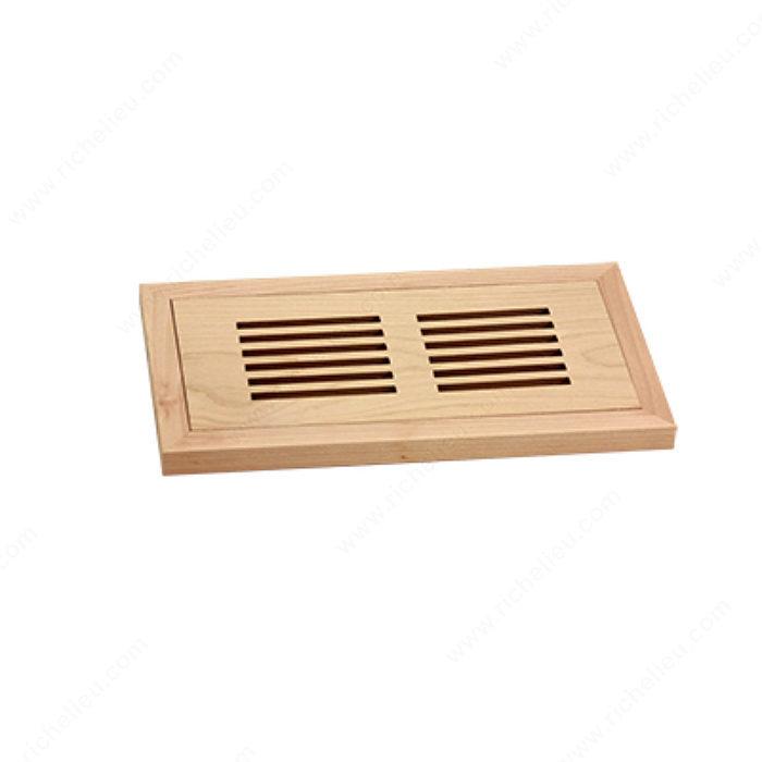 Flush mount floor register wood richelieu hardware for Floor registers