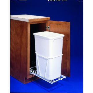 Single Bottom-Mounted Pull-Out Wastebin