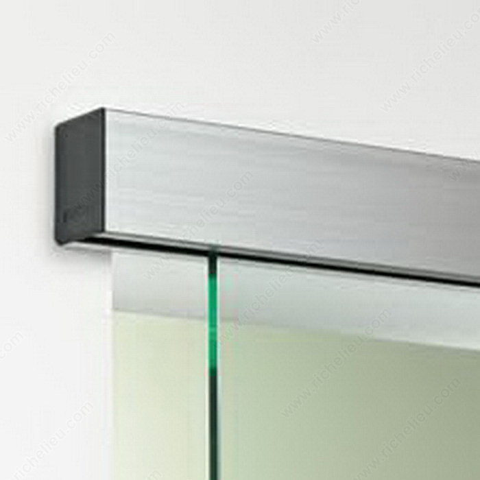 Optima 150 wall mount single sliding door system Glass wall door systems
