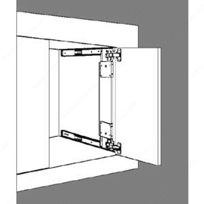 Coulisse de porte escamotable de s rie 1234 for Miroir 50in projector specs