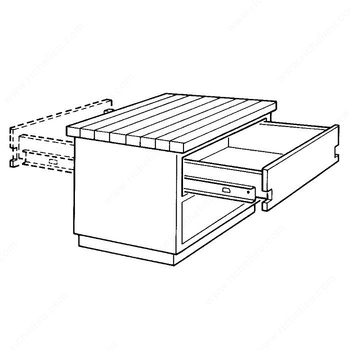 Series 2002 Two Way Drawer Slide 50 Lb Richelieu Hardware