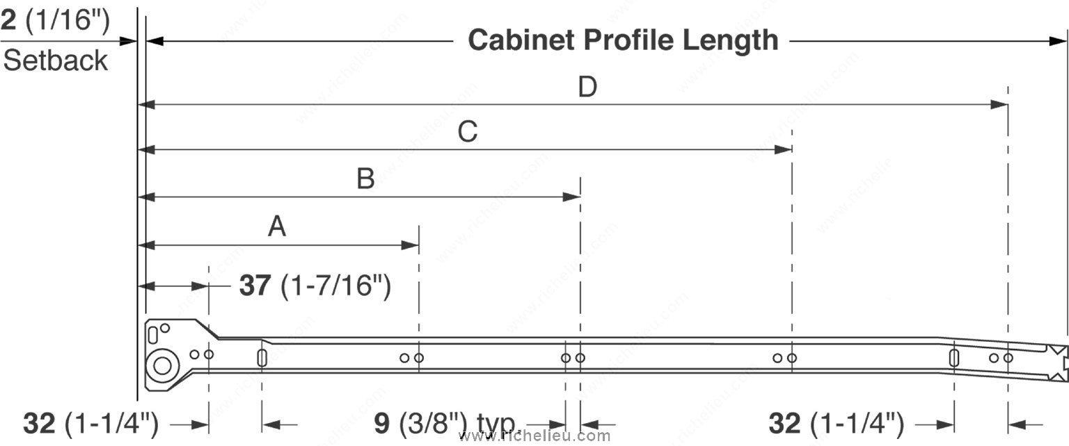 Metabox Series 320n C34 Single Extension Drawer Sides