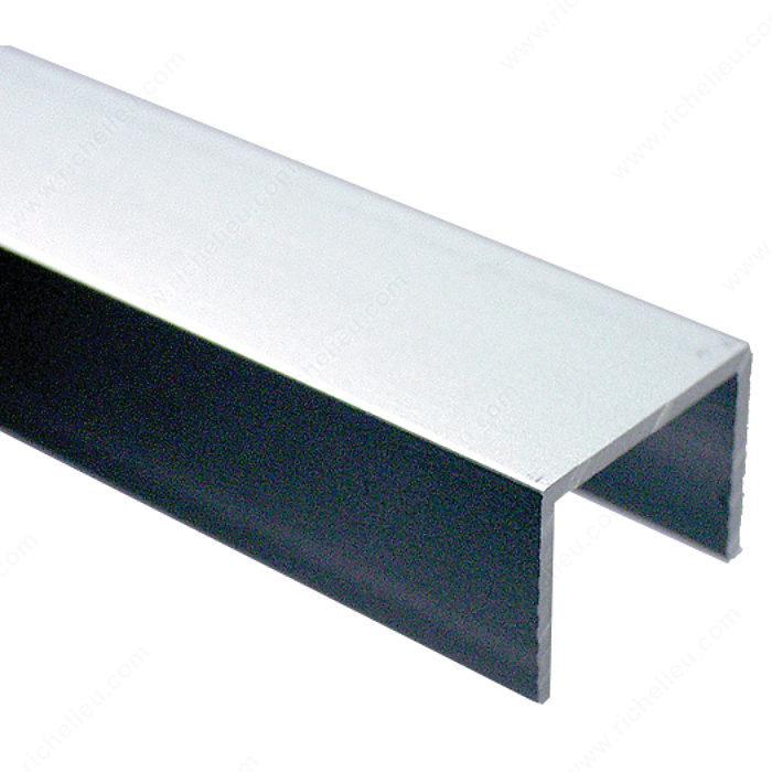 Canal de aluminio para puerta corrediza con marco de madera de 3/4 ...