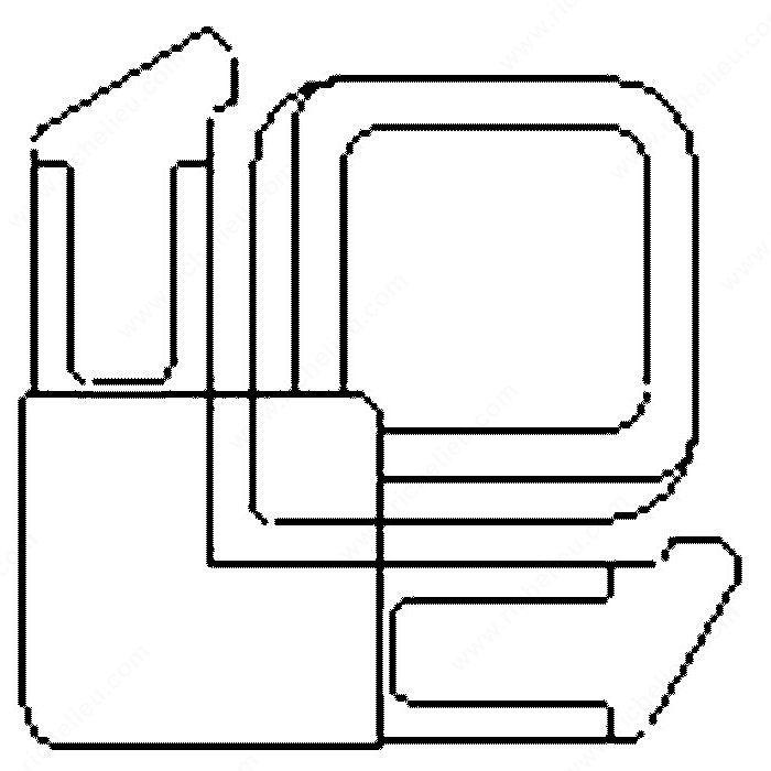 Lift Tab Screen Frame Corners Richelieu Hardware