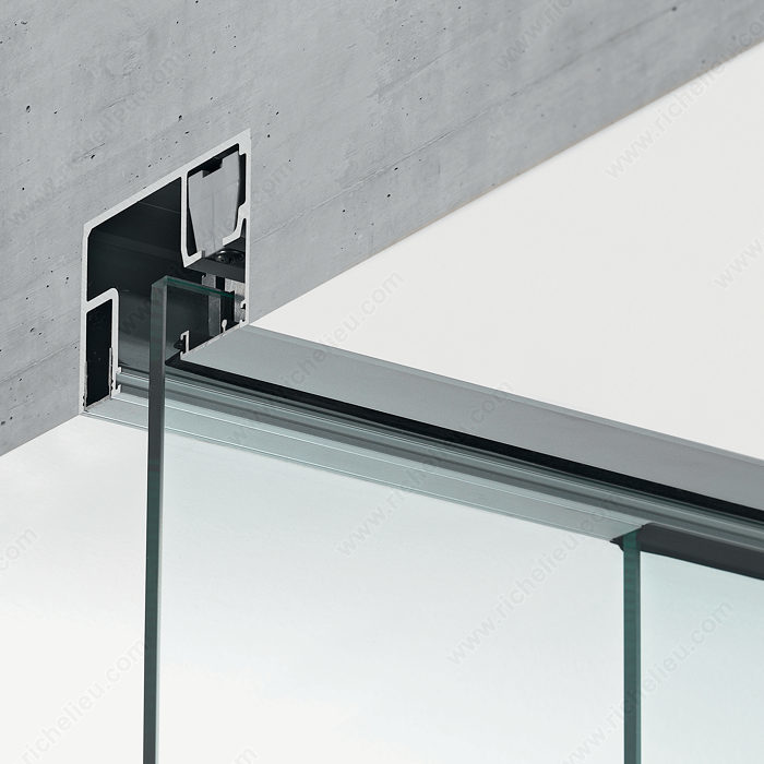 Eku Porta 100 Gwf Low Profile Concealed Sliding Glass And Fixed Glass Richelieu Hardware