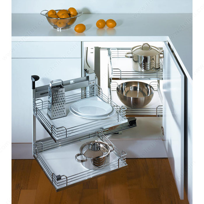 Kitchen Cabinet System: Magic Corner II Set For A Minimum Opening Of 394 Mm (15-1