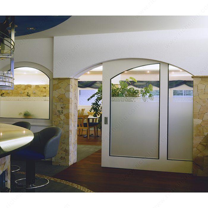 Syst me coulissant dissimul pour portes en bois hawa junior 160 b avec deux butoirs - Systeme coulissant porte interieure ...