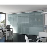 Versatile System with Heavy Duty Mechanism for Large Cabinet Doors. HAWA-Antea 50-80/FS - Operation: 3 Door By-Passing