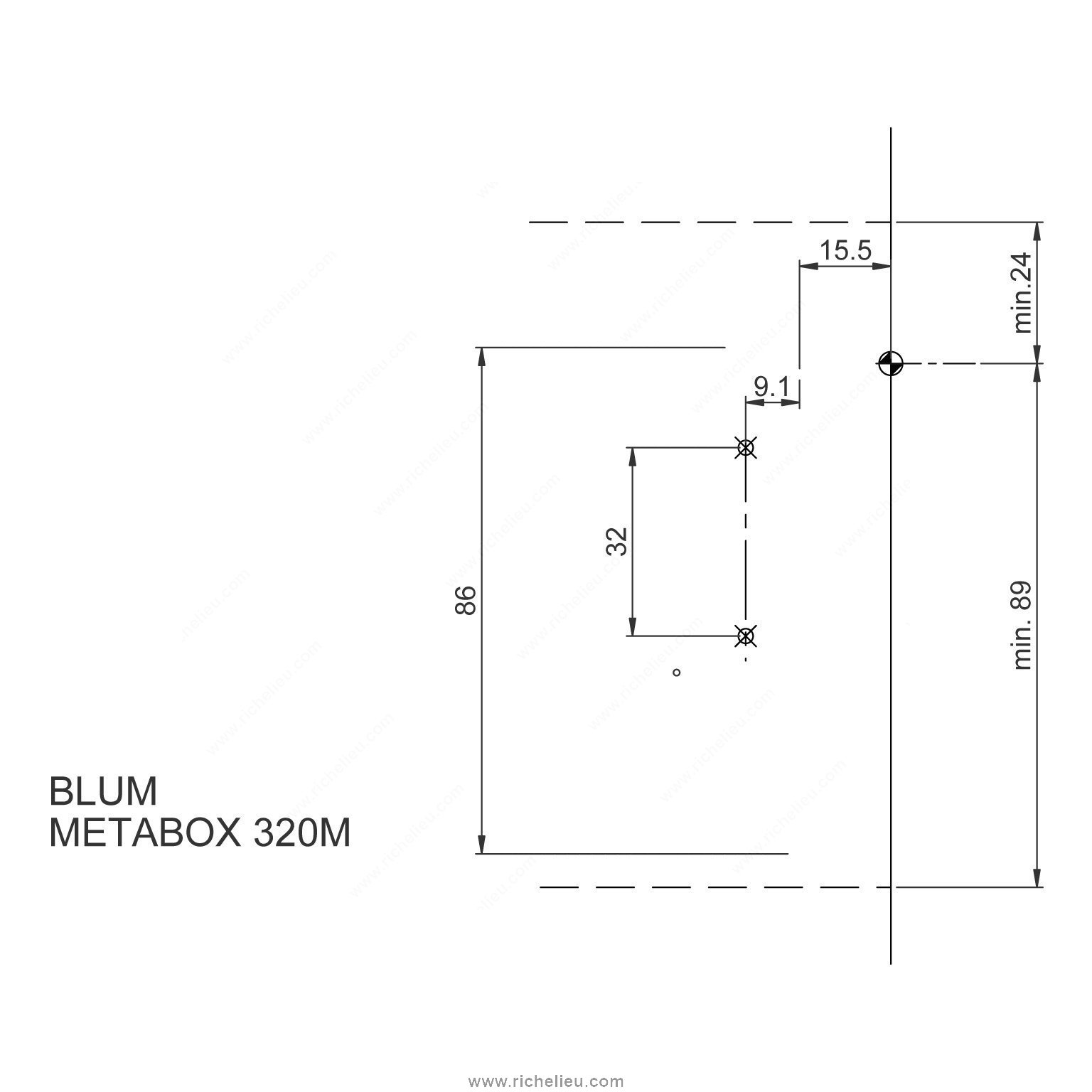 Metabox Kits Single Extension Richelieu Hardware