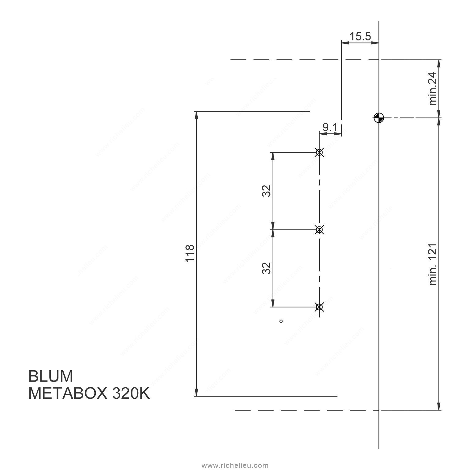 Metabox Kits Single Extension Richelieu Hardware