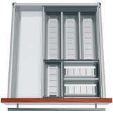 Modular Orgaline kit for cutlery. For 500 mm (20 in.)-deep by 500 mm (20 in.)-wide drawers.
