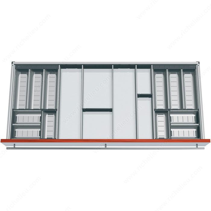 ensemble modulable orgaline pour couverts pour tiroir de 500 mm 20 po de profondeur par 1200. Black Bedroom Furniture Sets. Home Design Ideas