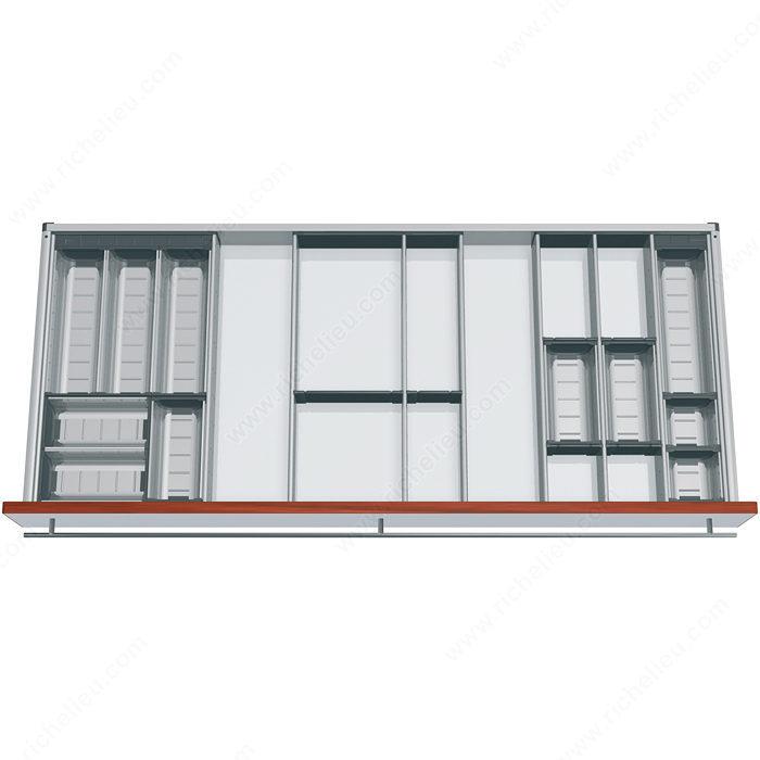 ensemble modulable orgaline pour ustensiles de cuisine pour tiroir de 550 mm 22 po de. Black Bedroom Furniture Sets. Home Design Ideas