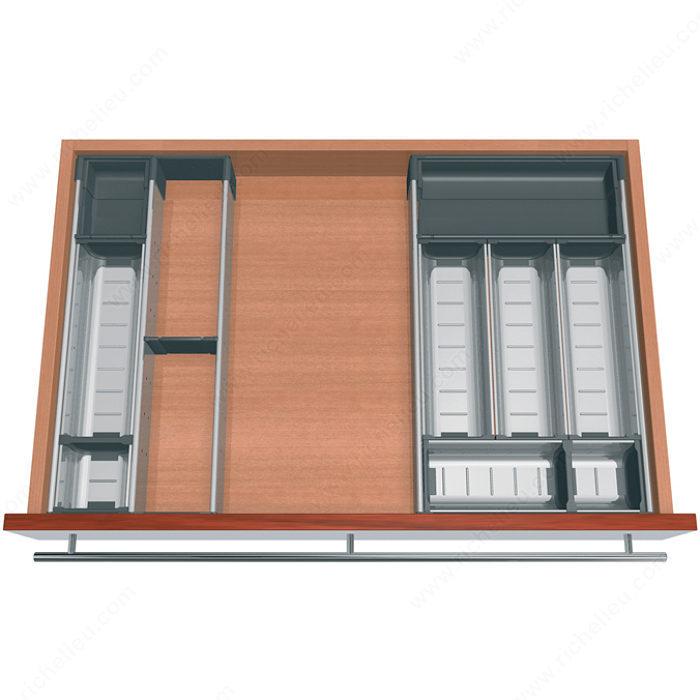 ensemble modulable orgaline pour couverts pour tiroir de 500 mm 20 po de profondeur par 800. Black Bedroom Furniture Sets. Home Design Ideas
