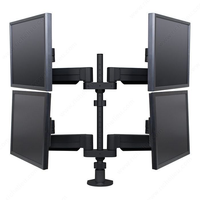 Floating LCD Monitor Arms - Multiple Monitors-2