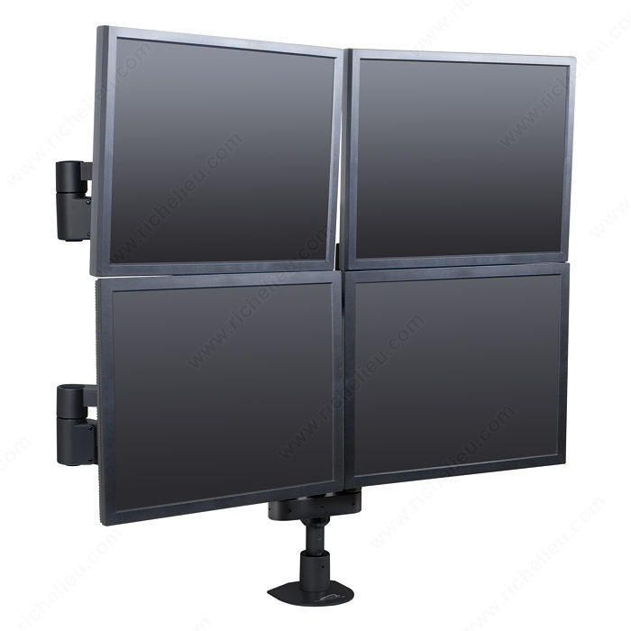 Floating LCD Monitor Arms - Multiple Monitors-4