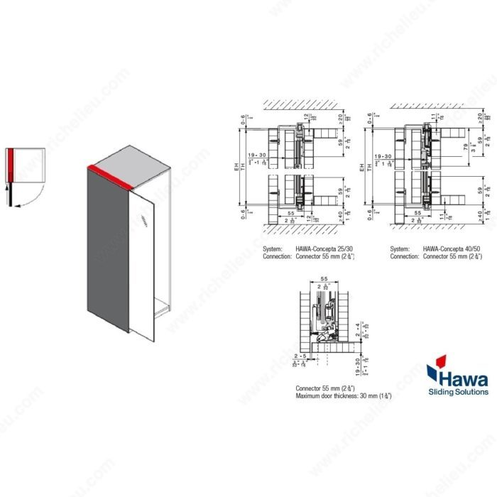 Hawa Concepta 25 Pivot And Slide In Pocket Door System