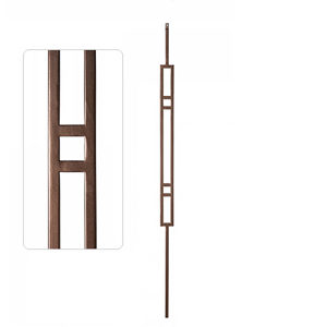 "TL78 - Square Spindles, Large ""H"" Rectangle"