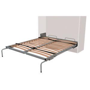 Cama abatible vertical con mecanismo de resorte y patas de for Mecanismo cama abatible