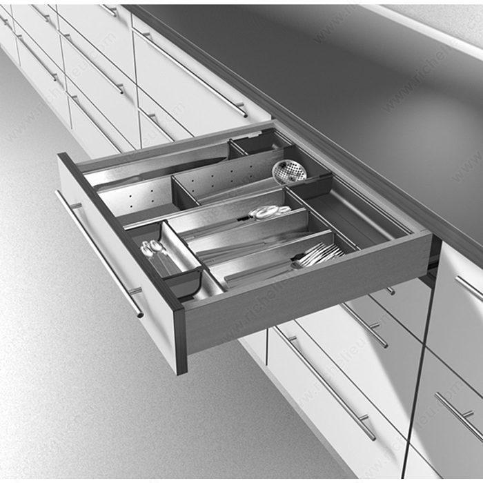 pour tiroirs de bois rangecouverts et casier à ustensile pour tiroir
