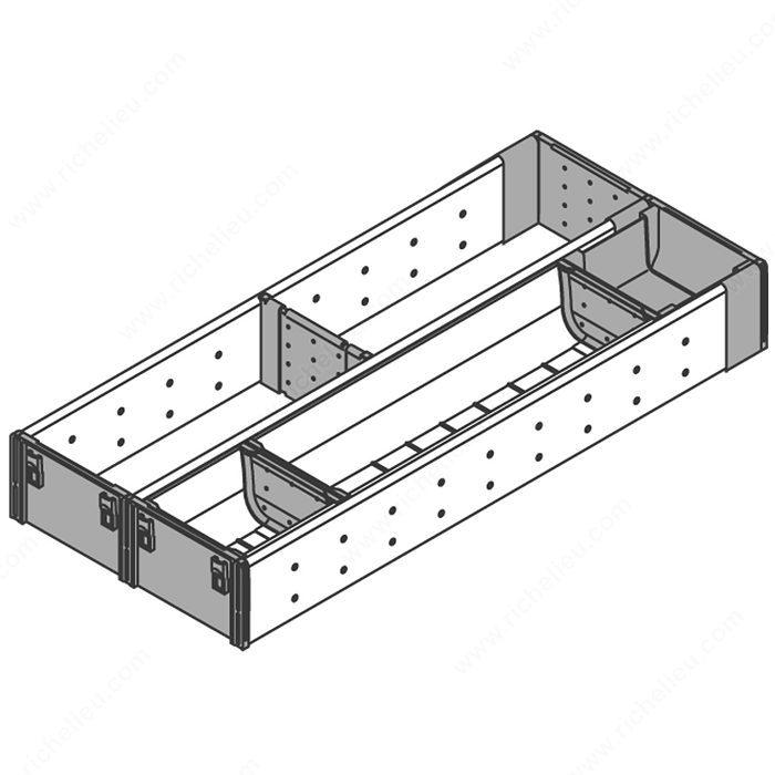 pour tiroirs de bois range couverts et casier à ustensile pour tiroir