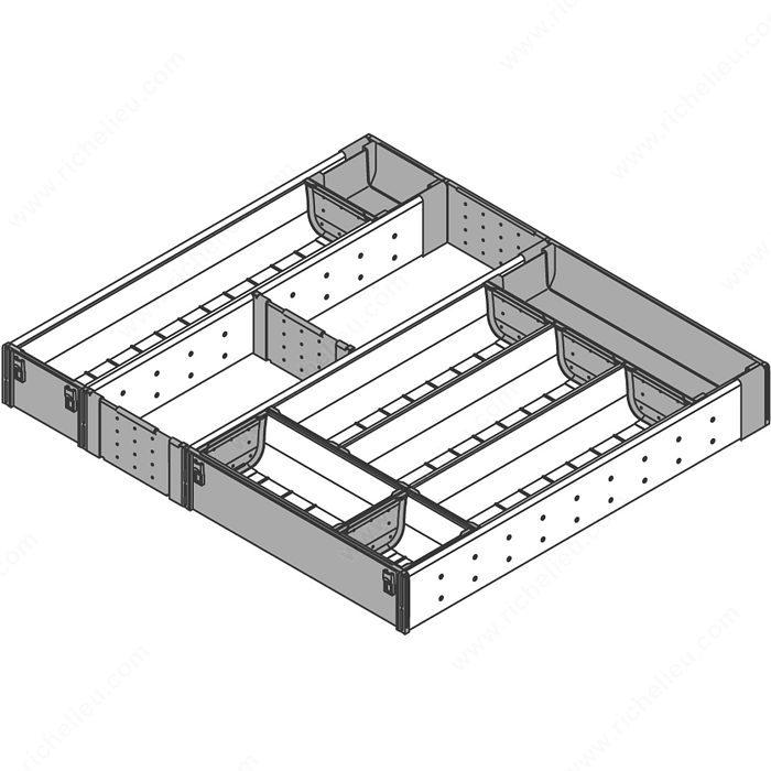 rangecouverts et casier à ustensiles pour tiroir en bois  zhi437ti5