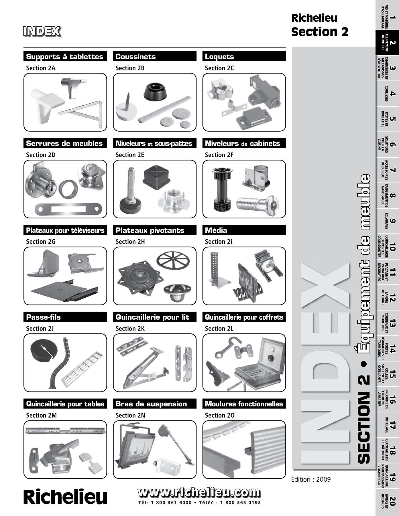 librairie des catalogues richelieu supports tablettes page 1 quincaillerie richelieu. Black Bedroom Furniture Sets. Home Design Ideas