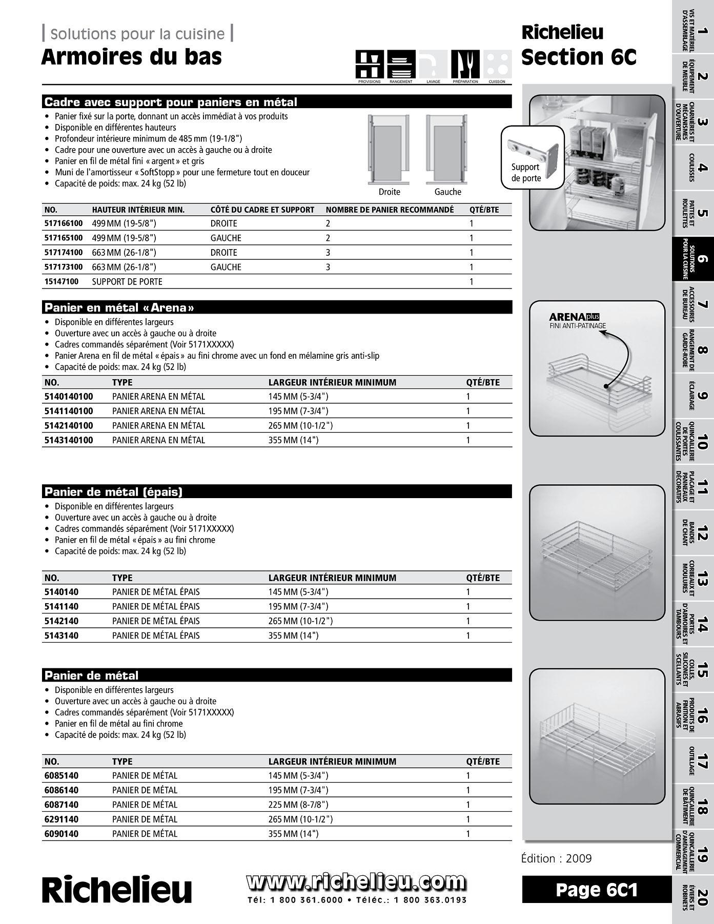 librairie des catalogues richelieu armoires du bas page 1 quincaillerie richelieu. Black Bedroom Furniture Sets. Home Design Ideas