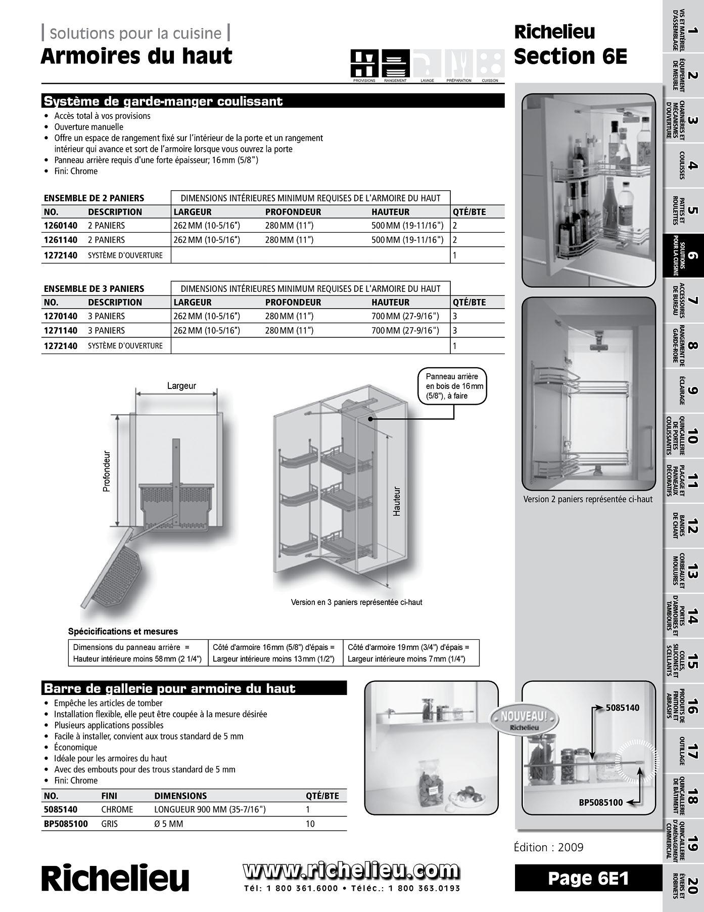 librairie des catalogues richelieu armoires du haut page 1 quincaillerie richelieu. Black Bedroom Furniture Sets. Home Design Ideas