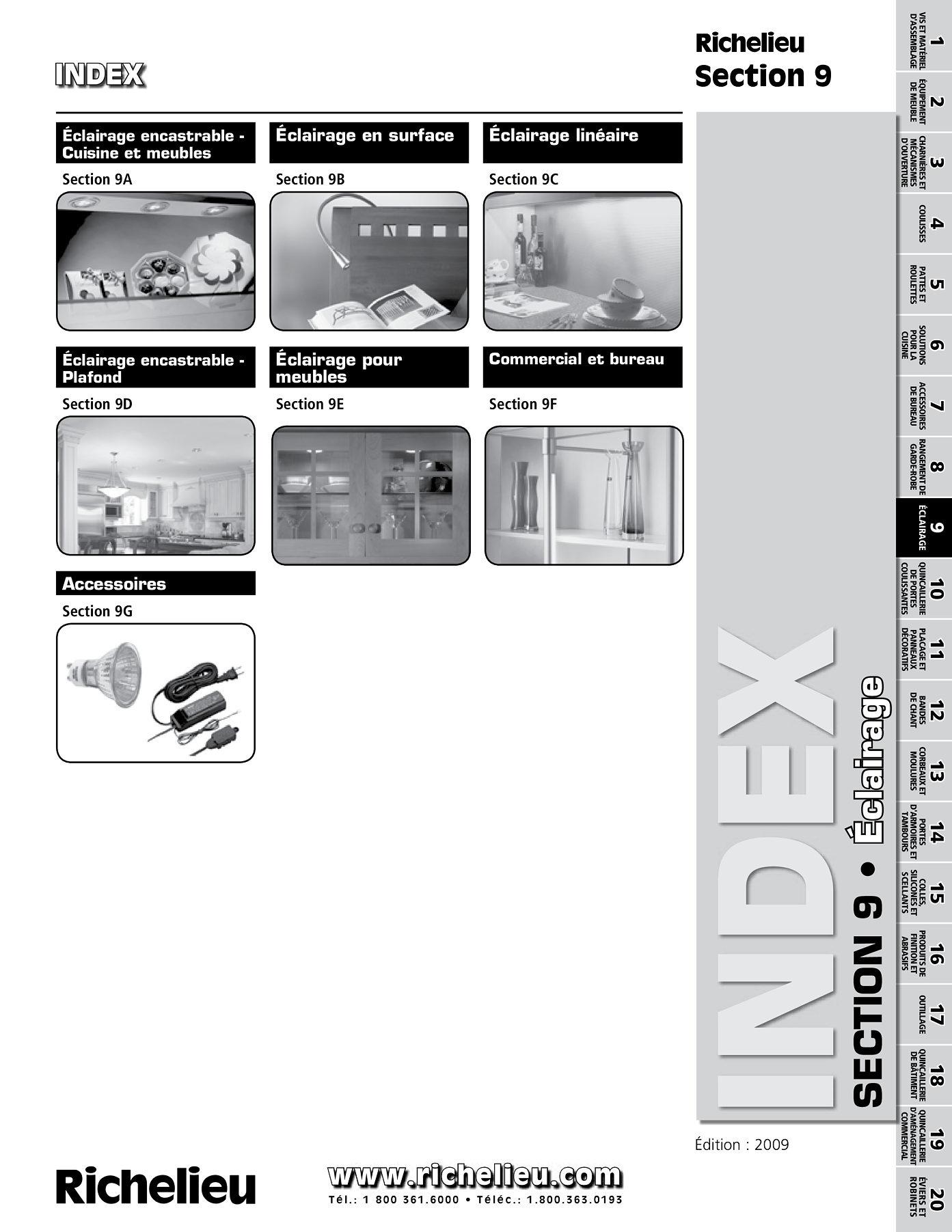 librairie des catalogues richelieu clairage encastrable cuisine et meubles page 1. Black Bedroom Furniture Sets. Home Design Ideas