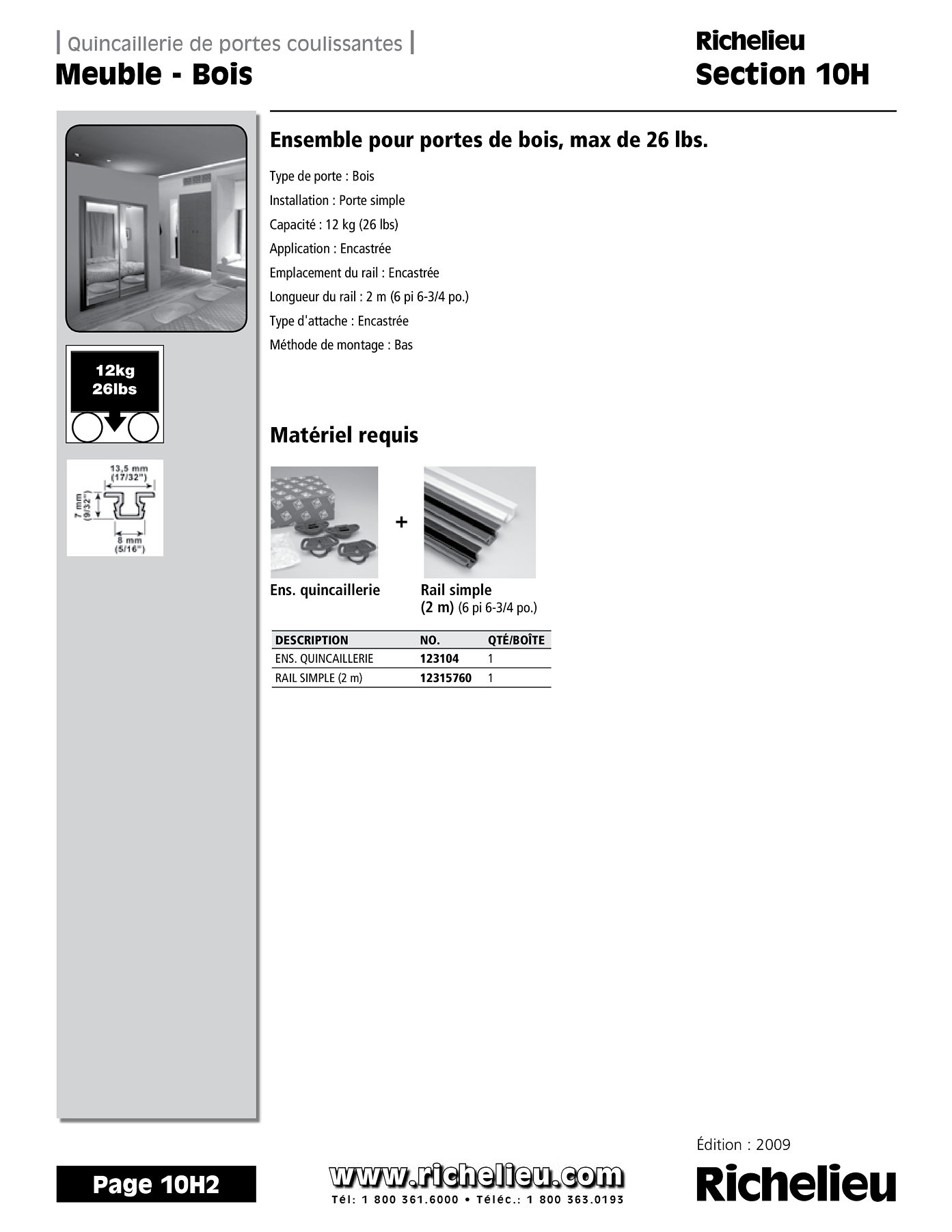 librairie des catalogues richelieu meuble bois page 1 quincaillerie richelieu. Black Bedroom Furniture Sets. Home Design Ideas