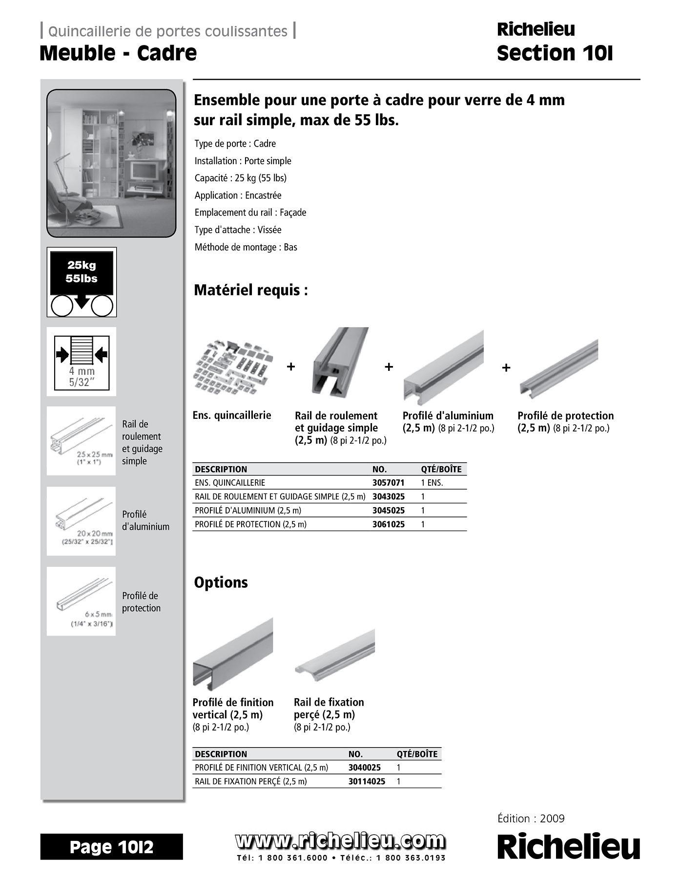 librairie des catalogues richelieu meuble cadre page 1 quincaillerie richelieu. Black Bedroom Furniture Sets. Home Design Ideas