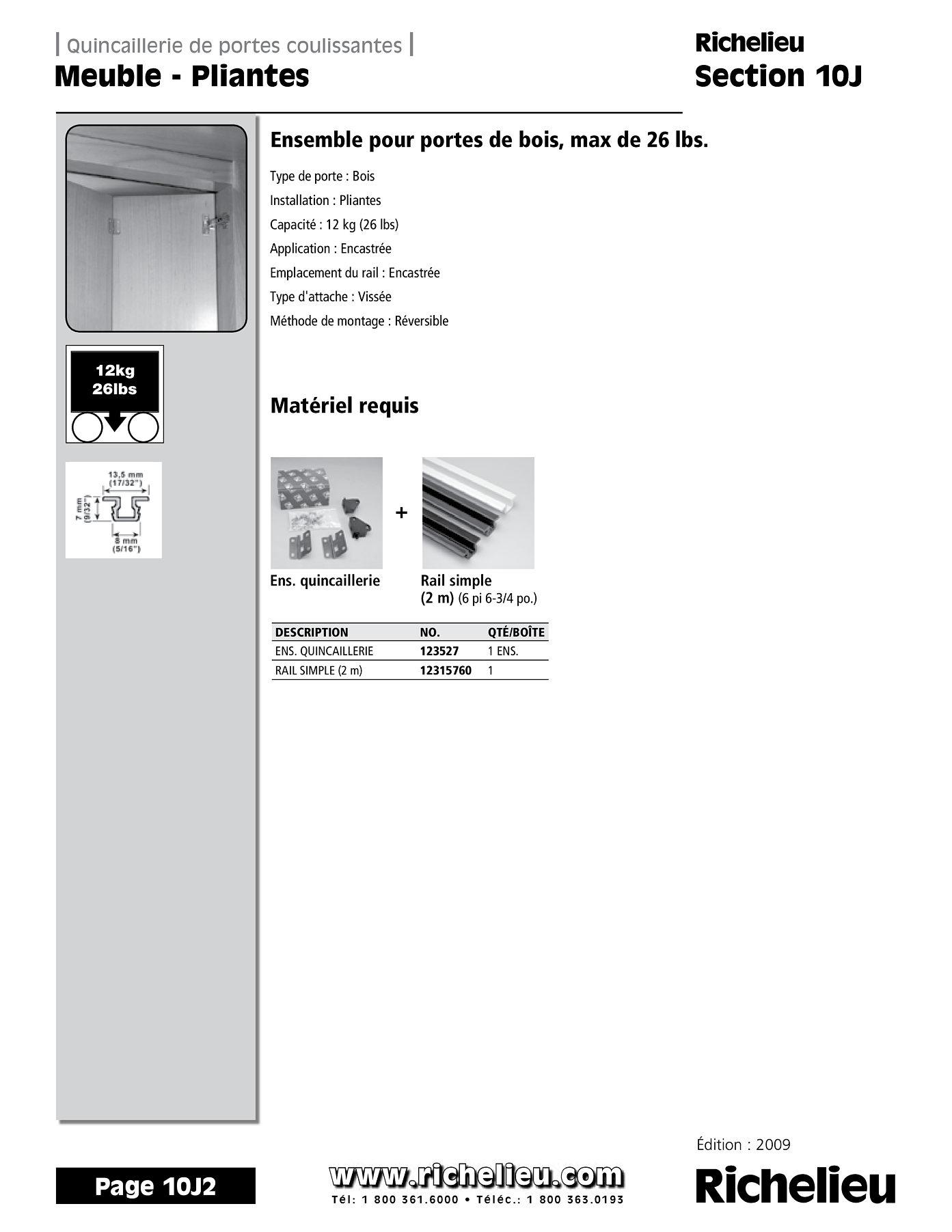 librairie des catalogues richelieu meuble pliante page 1 quincaillerie richelieu. Black Bedroom Furniture Sets. Home Design Ideas