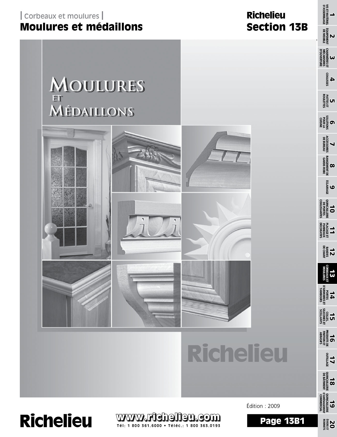 librairie des catalogues richelieu moulures et m daillons page 1 quincaillerie richelieu. Black Bedroom Furniture Sets. Home Design Ideas
