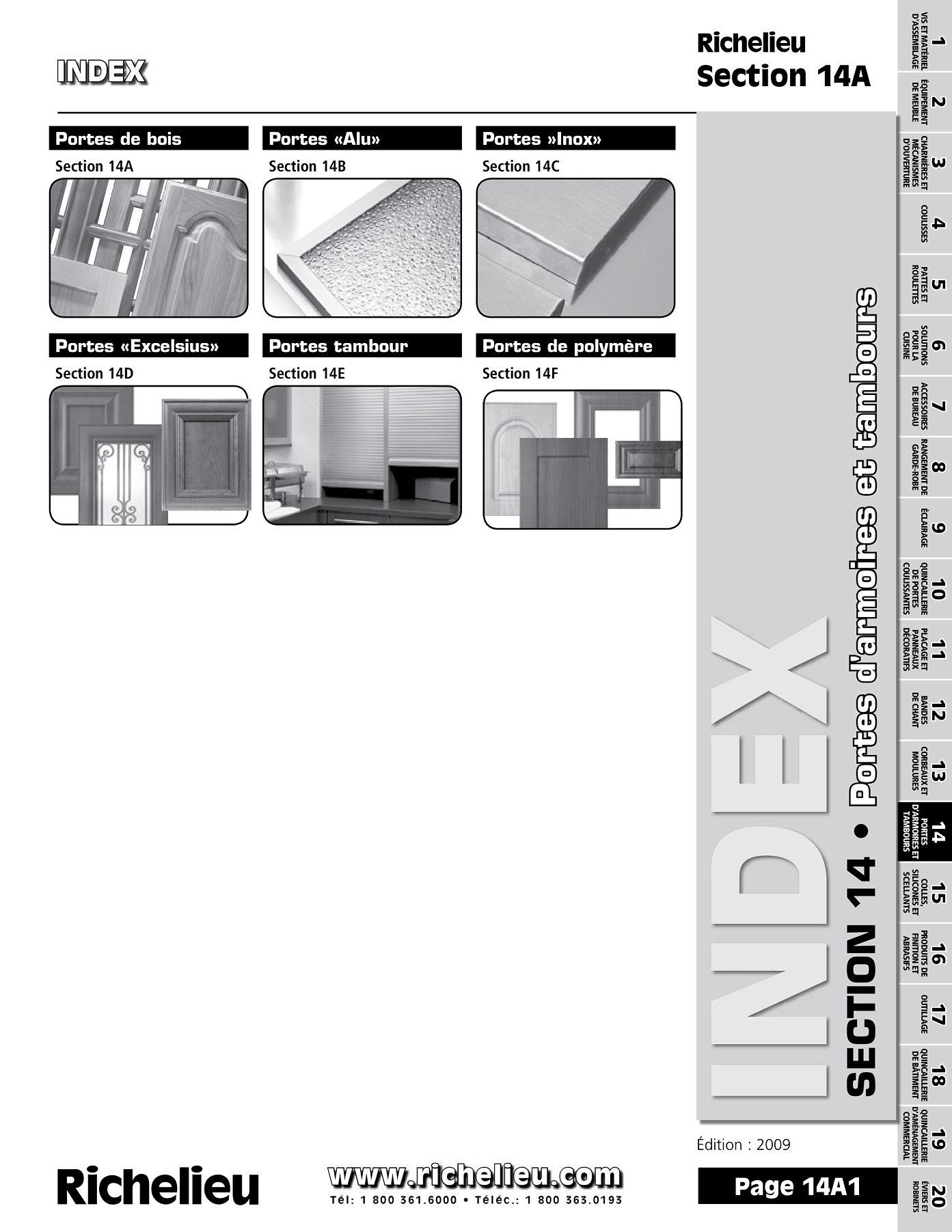 librairie des catalogues richelieu portes de bois page 1 quincaillerie richelieu. Black Bedroom Furniture Sets. Home Design Ideas