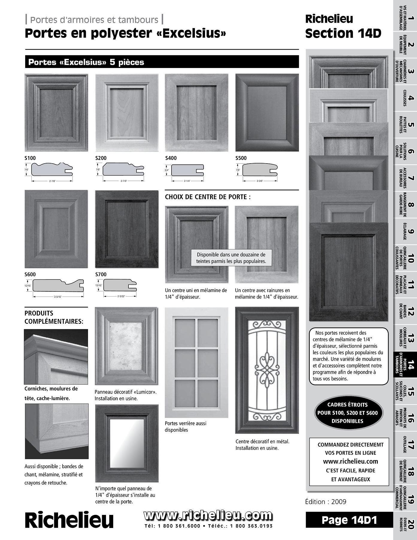 librairie des catalogues richelieu portes excelsius page 1 quincaillerie richelieu. Black Bedroom Furniture Sets. Home Design Ideas