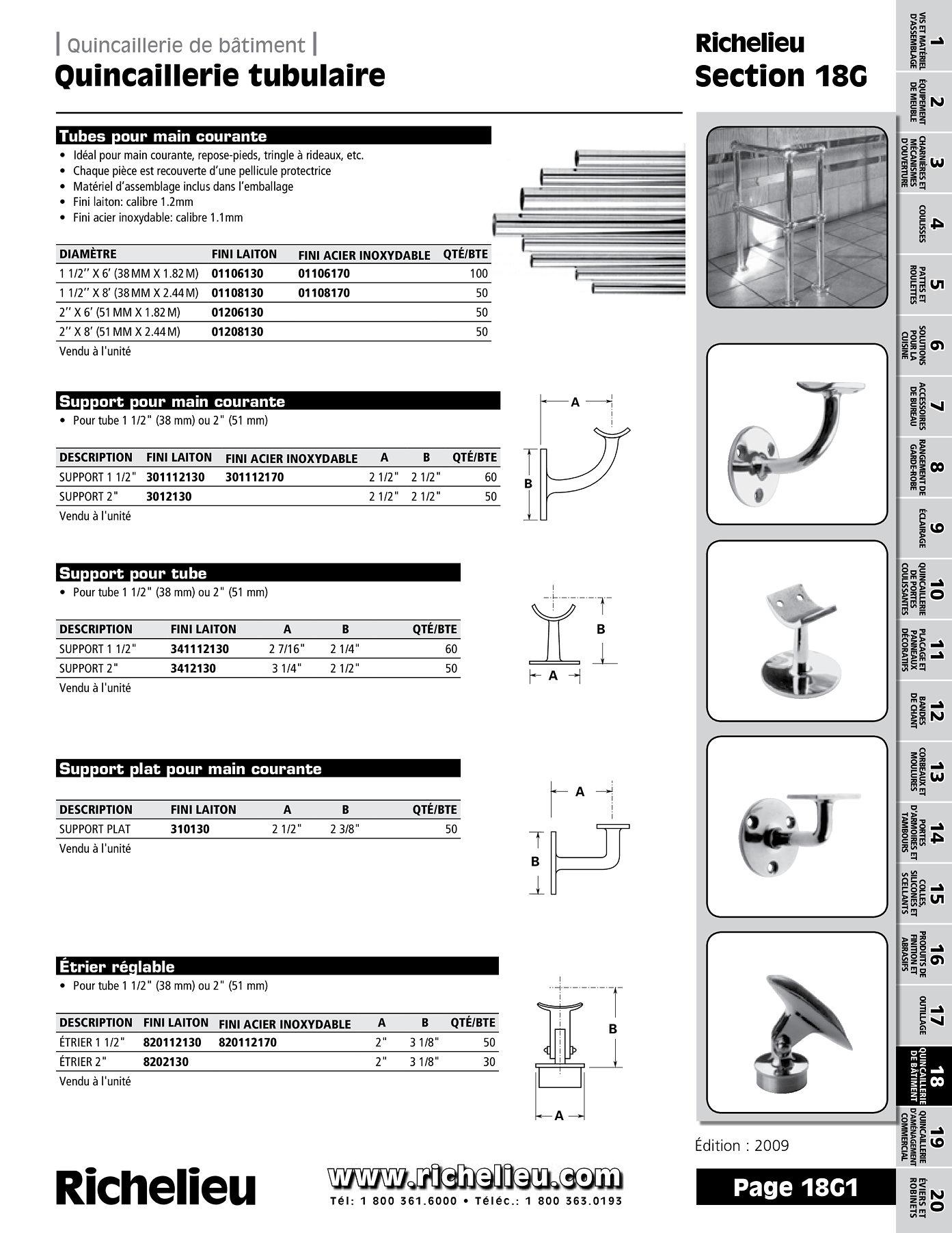 librairie des catalogues richelieu quincaillerie tubulaire page 1 quincaillerie richelieu. Black Bedroom Furniture Sets. Home Design Ideas