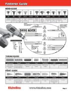 Fastener Guide (Anglais seulement)