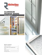 Aluminum framed doors