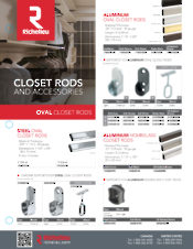Closet rods and accessories