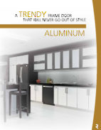 Aluminum Framed Custom-made Cabinet Doors